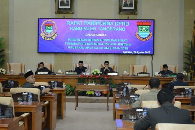 APBD Perubahan Kabupaten Tangerang  Disahkan
