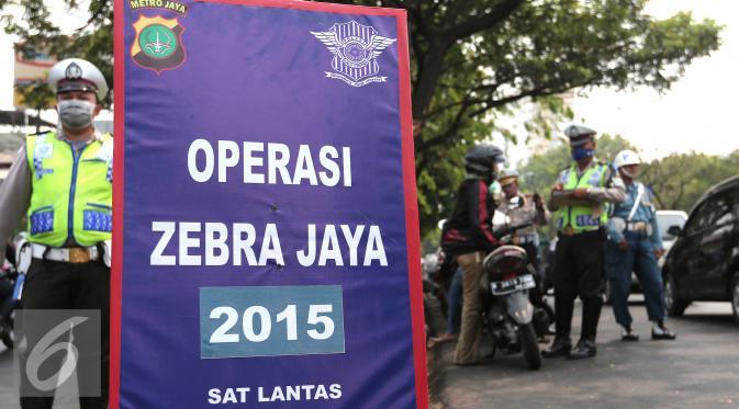 Ribuan Pengendara Terjaring Operasi Zebra 2015