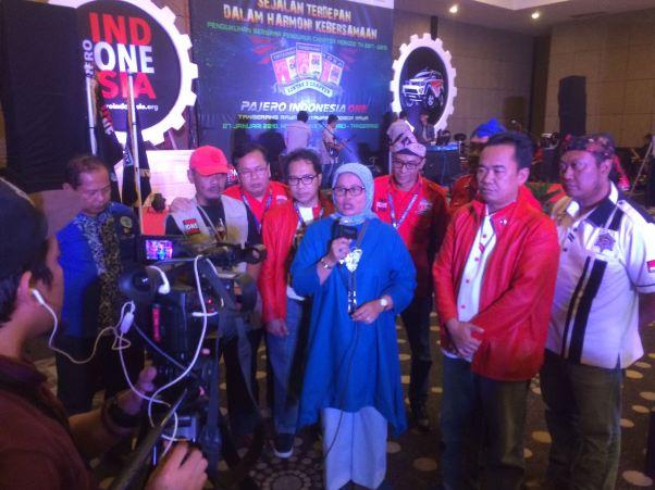 Kadispar Banten Hadiri Pengukuhan Chapter Pajero Indonesia ONE