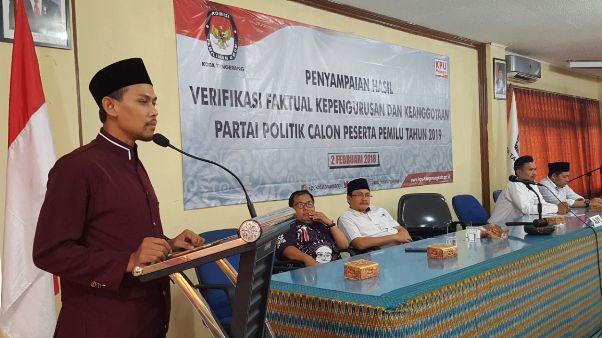 15 Parpol di Kota Tangerang Lolos Verifikasi, 1 Harus Perbaikan