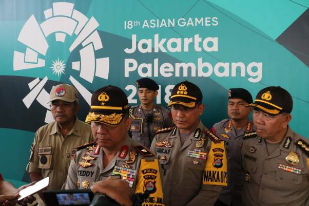 Kapolda Banten Pastikan  Venue Asian Games 2018 Siap Digunakan