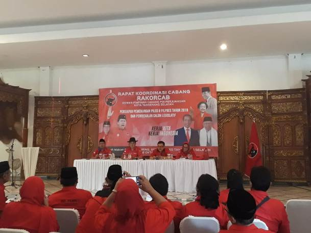 Jelang Pemilu 2019, DPC PDIP Kota Tangsel Gelar Rakorcab