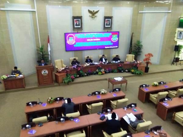 Paripurna DPRD Sahkan APBD Kabupaten Tangerang Tahun 2019