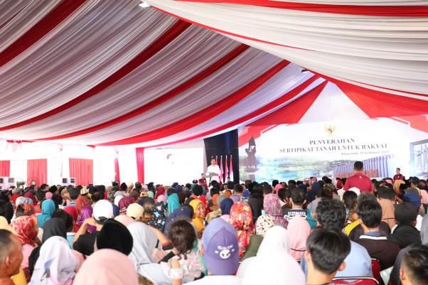 Jokowi: Sertifikat Tanah untuk Menghindari Sengketa Lahan