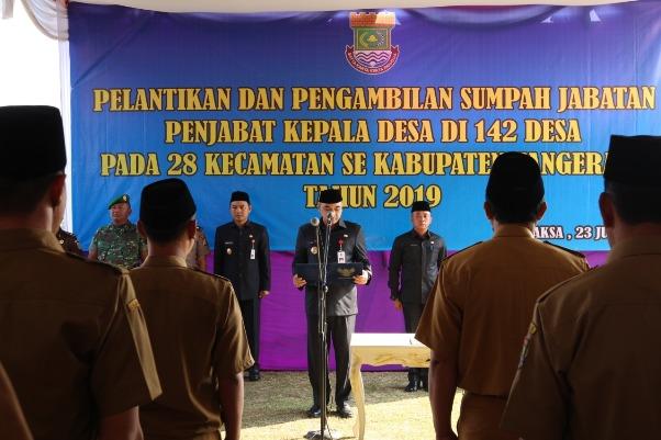 Bupati Tangerang Minta  Penjabat Kepala Desa Segera Mempersiapkan Pelaksanaan Pilkades Serentak