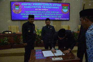DPRD Kabupaten Tangerang Setujui APBD Tahun 2020