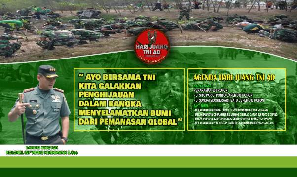 Jelang  Hari Juang TNI AD,  Kodim 0506/Tgr Siapkan 900 Pohon untuk Penghijauan