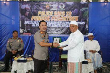 Polri Goes To Ponpes: Kapolresta Tangerang Ajak Santri Jadi Pelopor Tertib Lalu Lintas