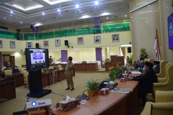 Pandemi Covid-19, DPRD dan Bupati Tangerang Rapat Paripurna Melalui Video Conference