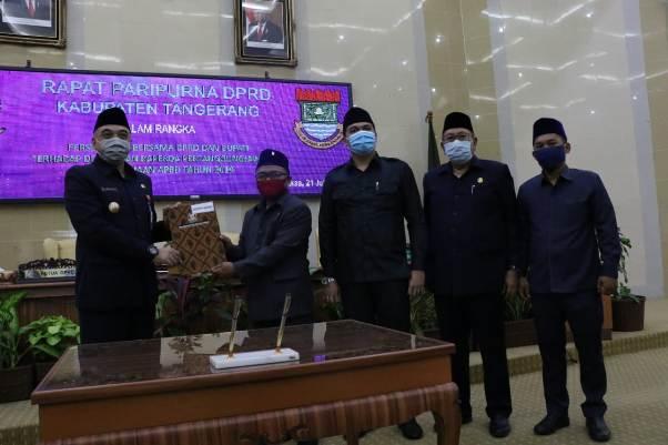 DPRD Kabupaten Tangerang Menyetujui Pertanggungjawaban Pelaksanaan APBD 2019