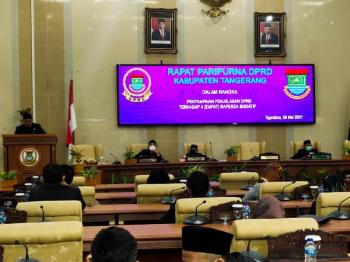 DPRD Kabupaten Tangerang Sampaikan 4 Raperda Inisiatif Kepada Pemerintah Daerah